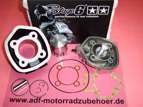 ZYLINDER KOLBEN PIAGGIO NRG MC2 MC3 ZIP SP QUARTZ 70 ccm LC STAGE 6 STREETRACE 47 mm